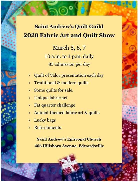 2020 Fabric Art and Quilt Show | March 5, 6, 7